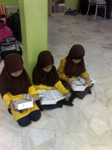 Reading Al - Quran during break time