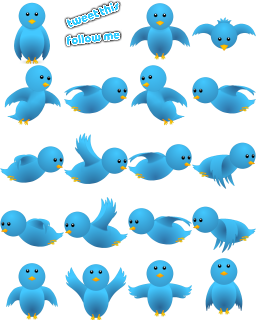 flying twitter birds